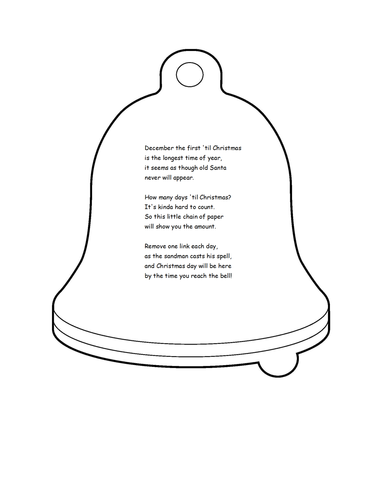 Christmas Bell Chain Poem