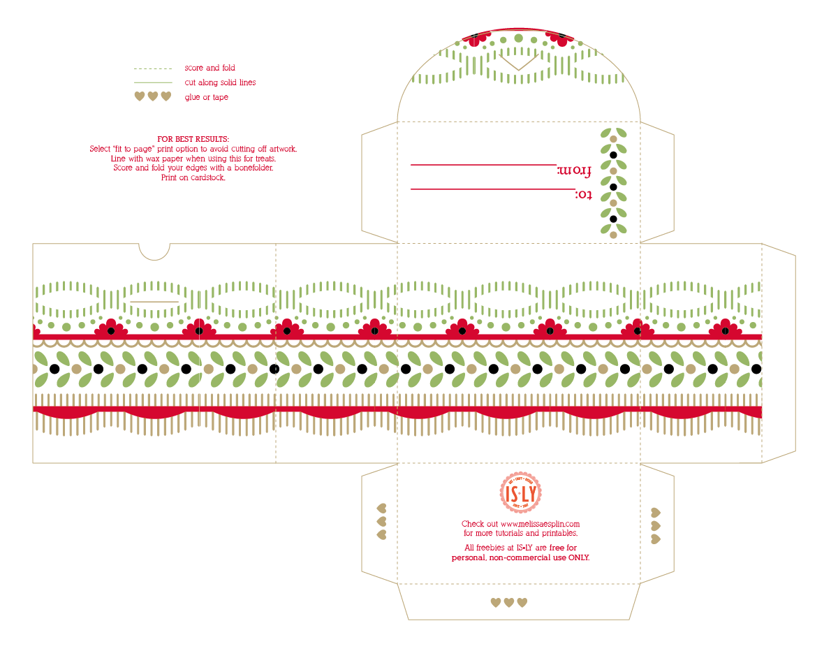 Christmas Candy Box Template