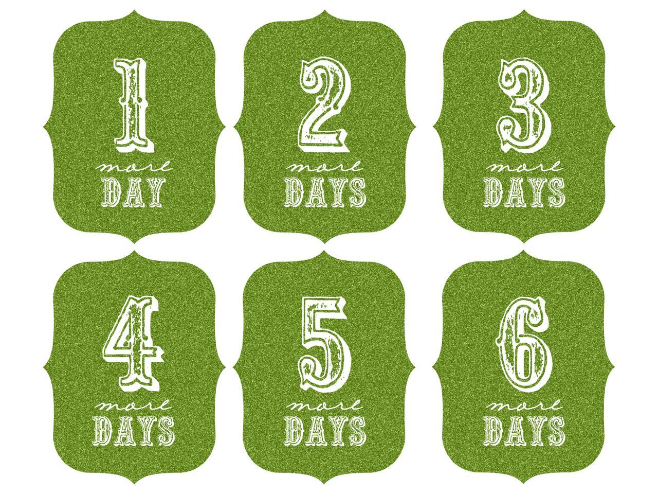 Christmas Countdown Number Printables