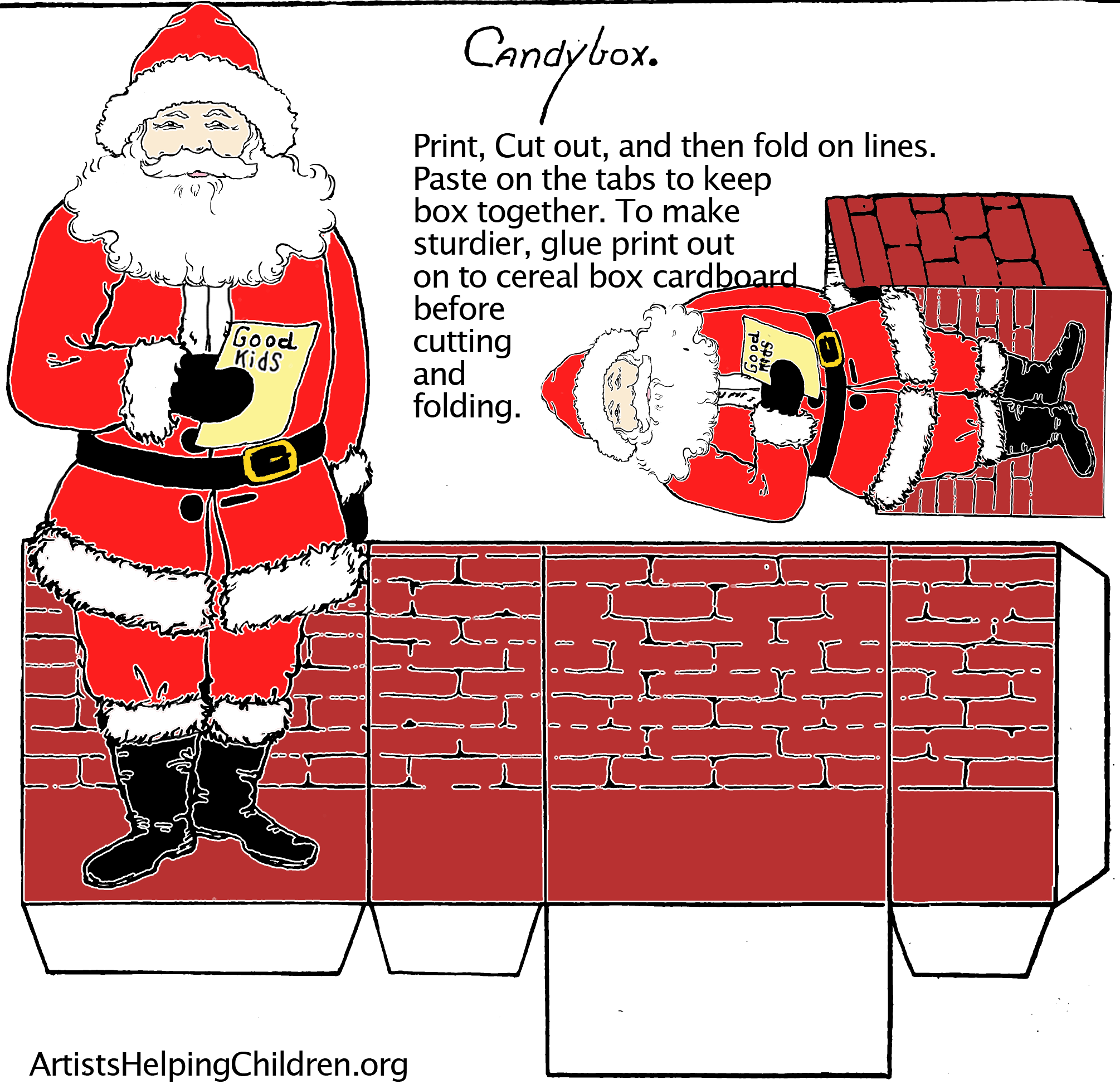 Christmas Santa Printable Paper Box Templates