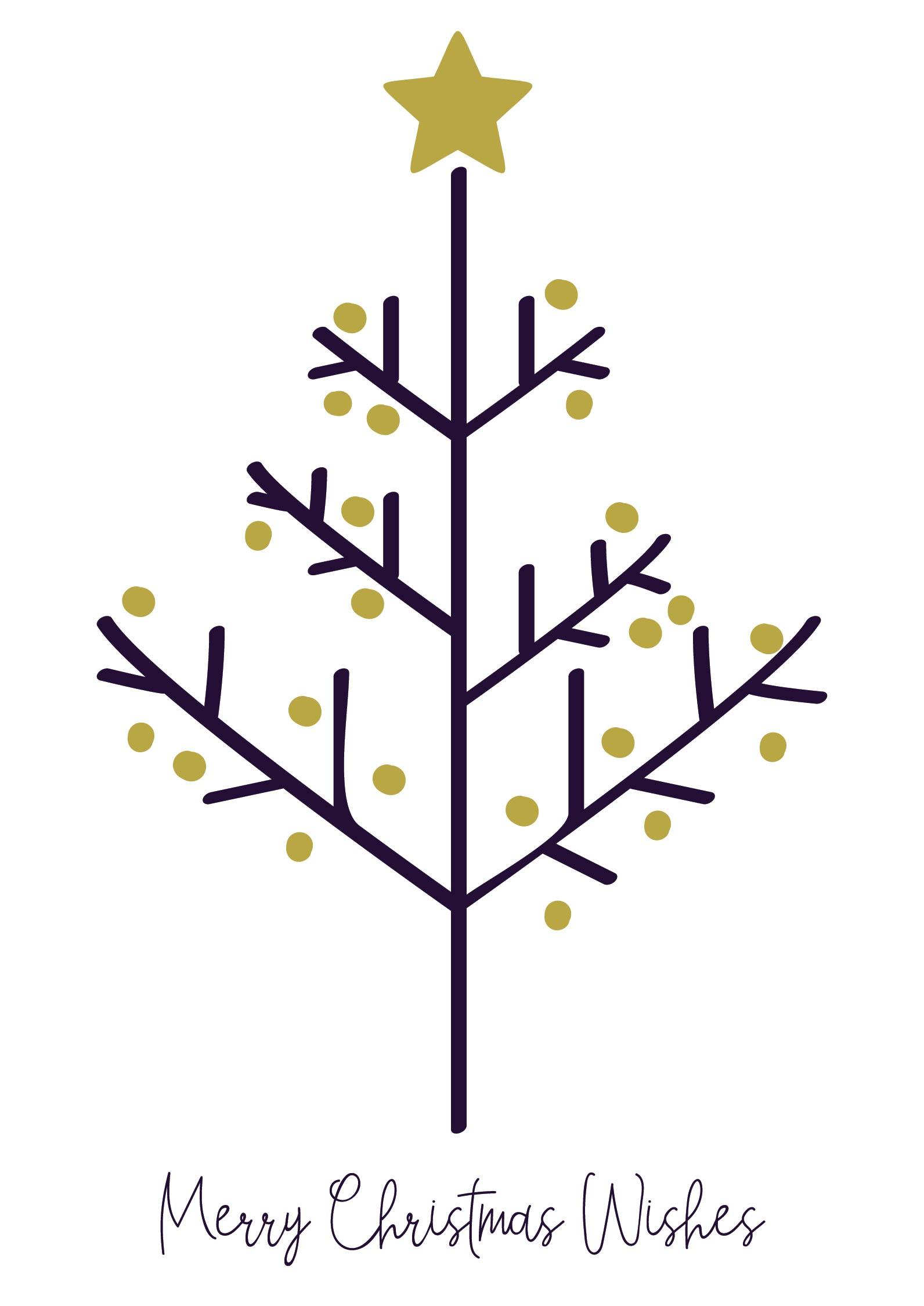 Christmas Tree Fingerprint Card Printable