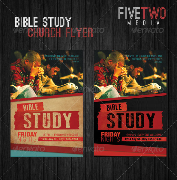 8 best images of free printable bible study flyer