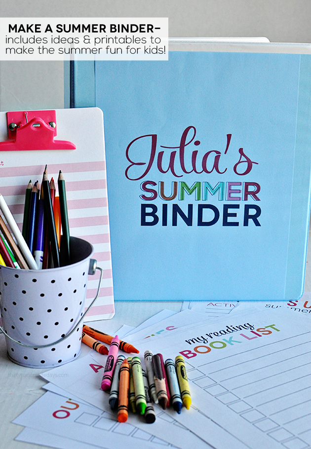 5 Images of Summer Binder Printable