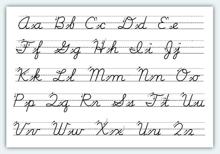 Cursive Handwriting Practice Worksheets A Z Writing