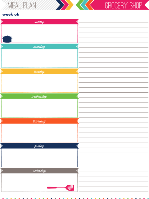 6 Images of Printable Daily Food Planner
