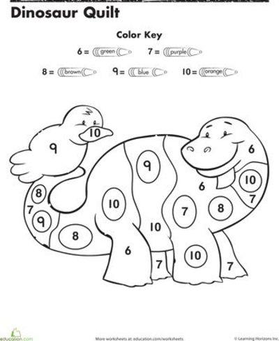 7 Images of Color By Number Printables For Kindergarten