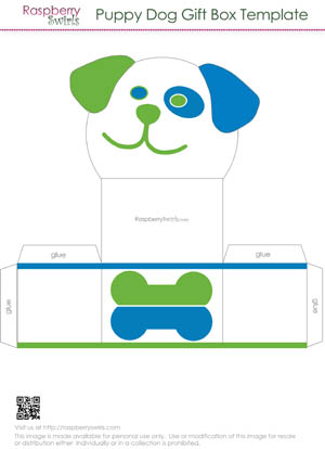 Dog Treat Printable Box Templates