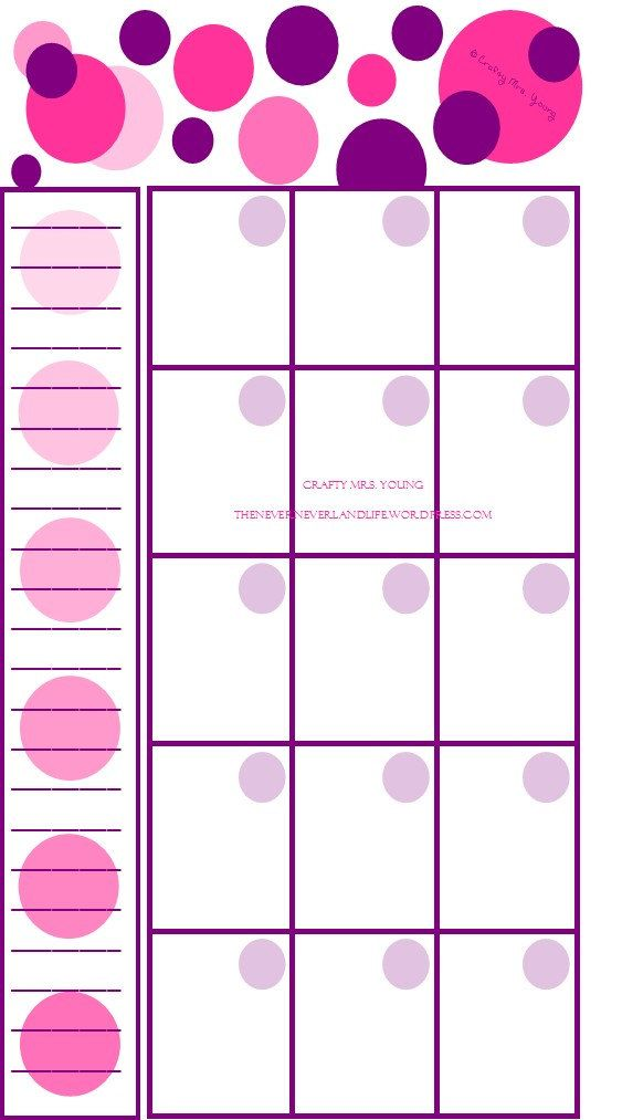 Filofax Personal Printable Monthly Calendar