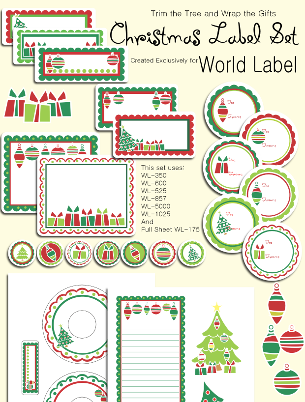 Free Christmas Labels Templates