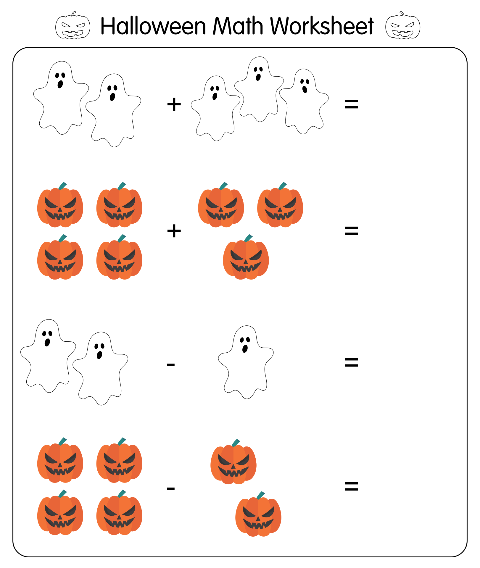 math worksheet : 5 best images of halloween preschool math printables  halloween  : Kindergarten Halloween Math Worksheets