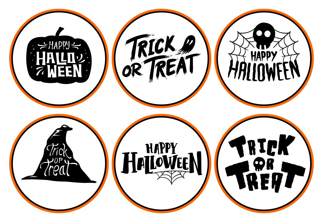 Printable Halloween Graphic and Sticker Design