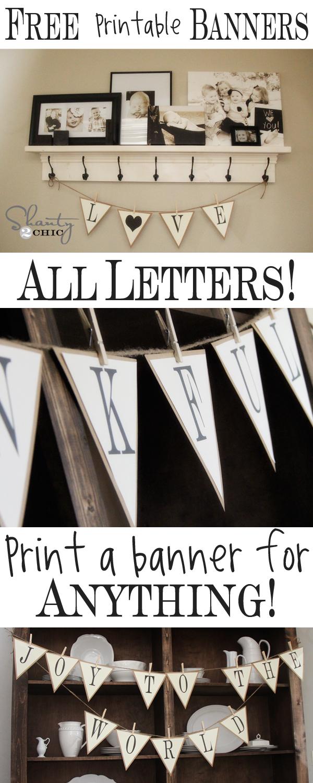 Free Printable Alphabet Banner