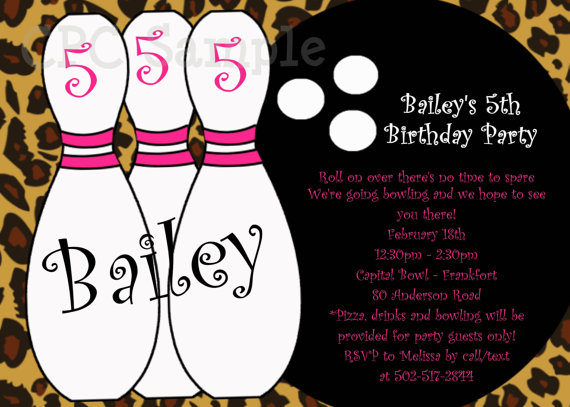 Free Printable Bowling Birthday Party Invitation