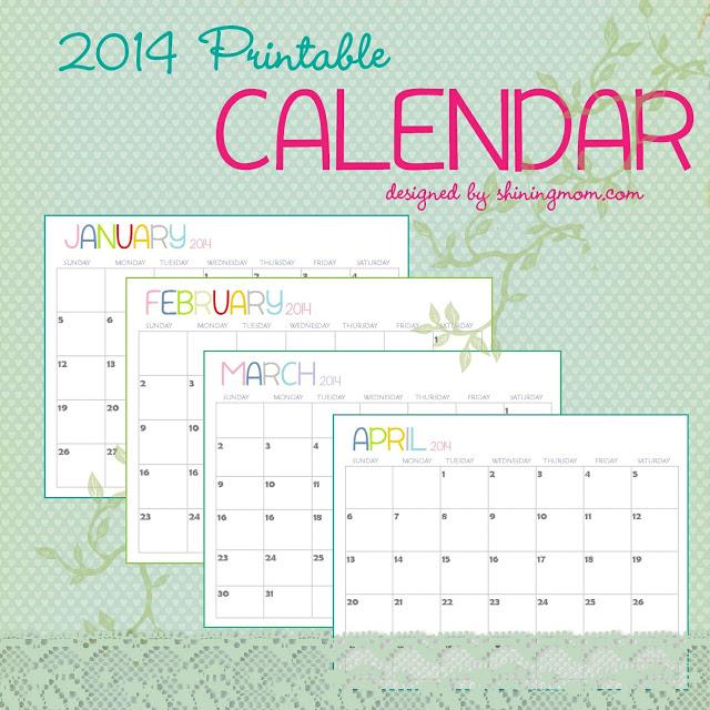 8 Images of Chalkboard Free Printable 2014 Calendar