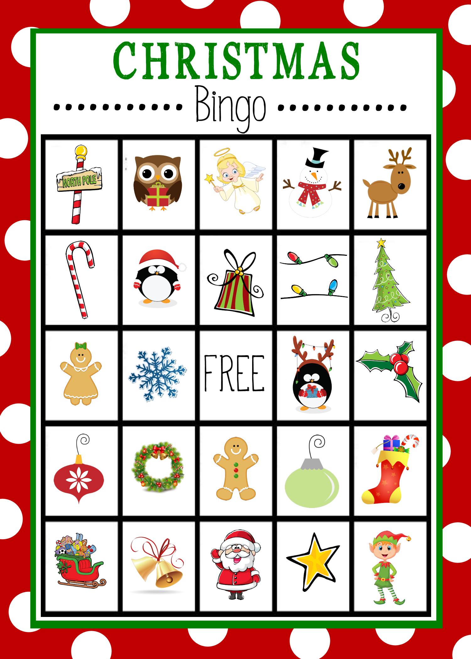 9 Images of Free Printable Christmas Bingo Games