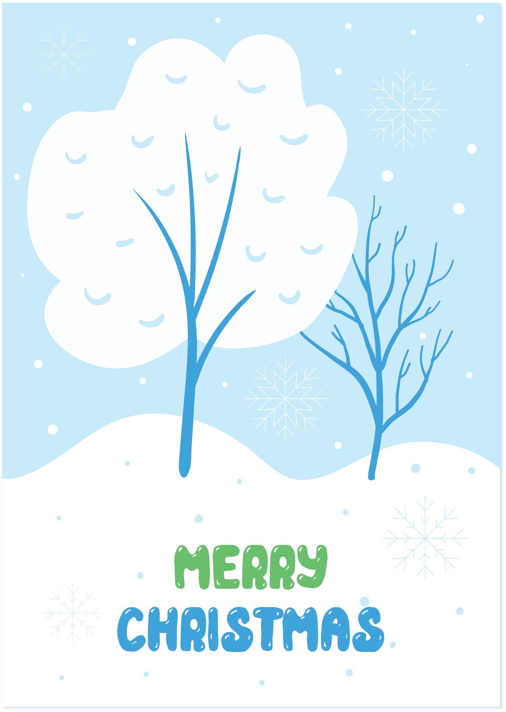 7 Images of Printable Christmas Tree Card
