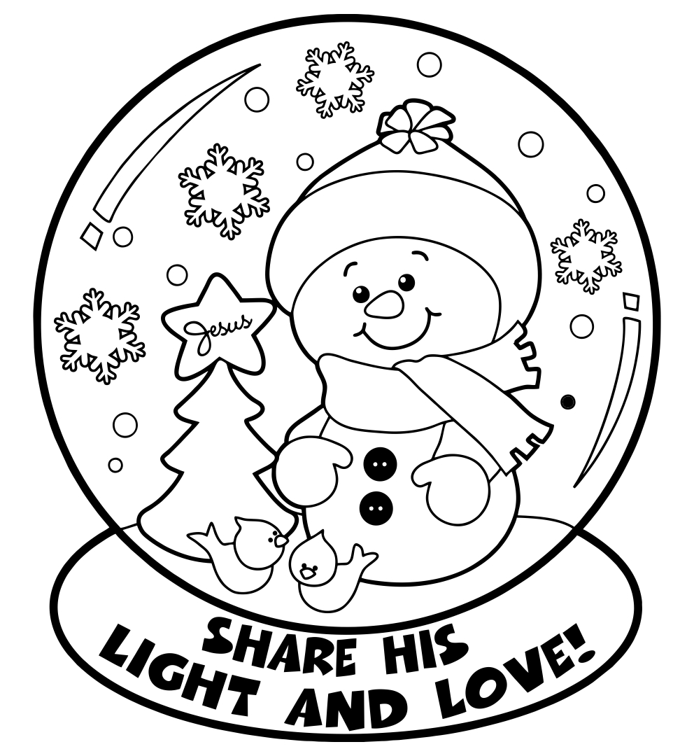 Free Printable Christmas Coloring Pages Kids