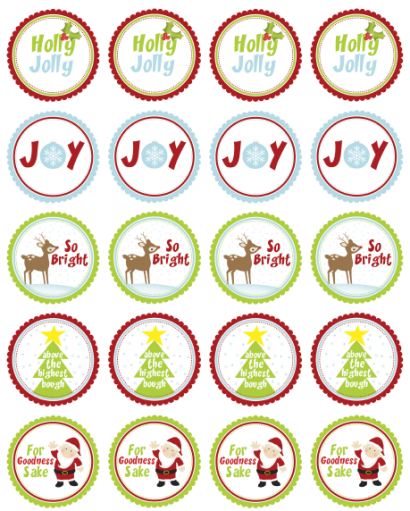 8 Images of Free Christmas Printable Round Stickers
