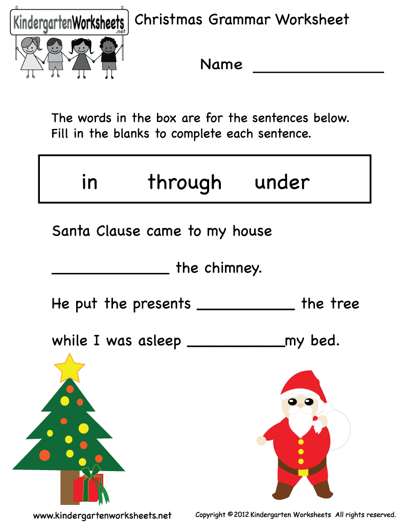 8 Images of Free Printable Grammar Worksheets Kindergarten