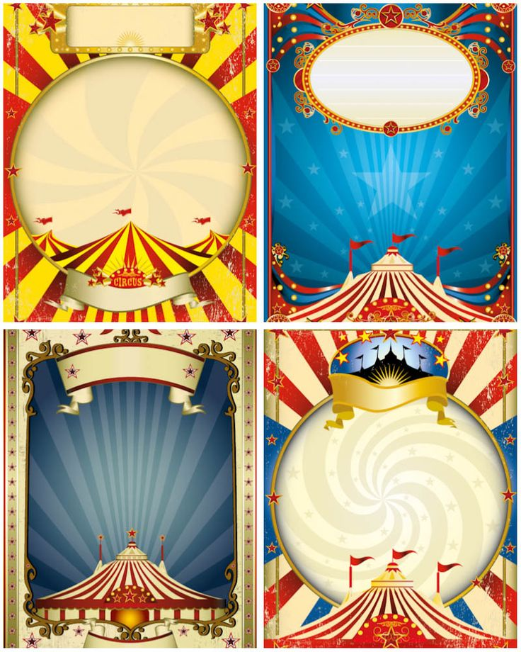 5 Images of Carnival Printable Frames