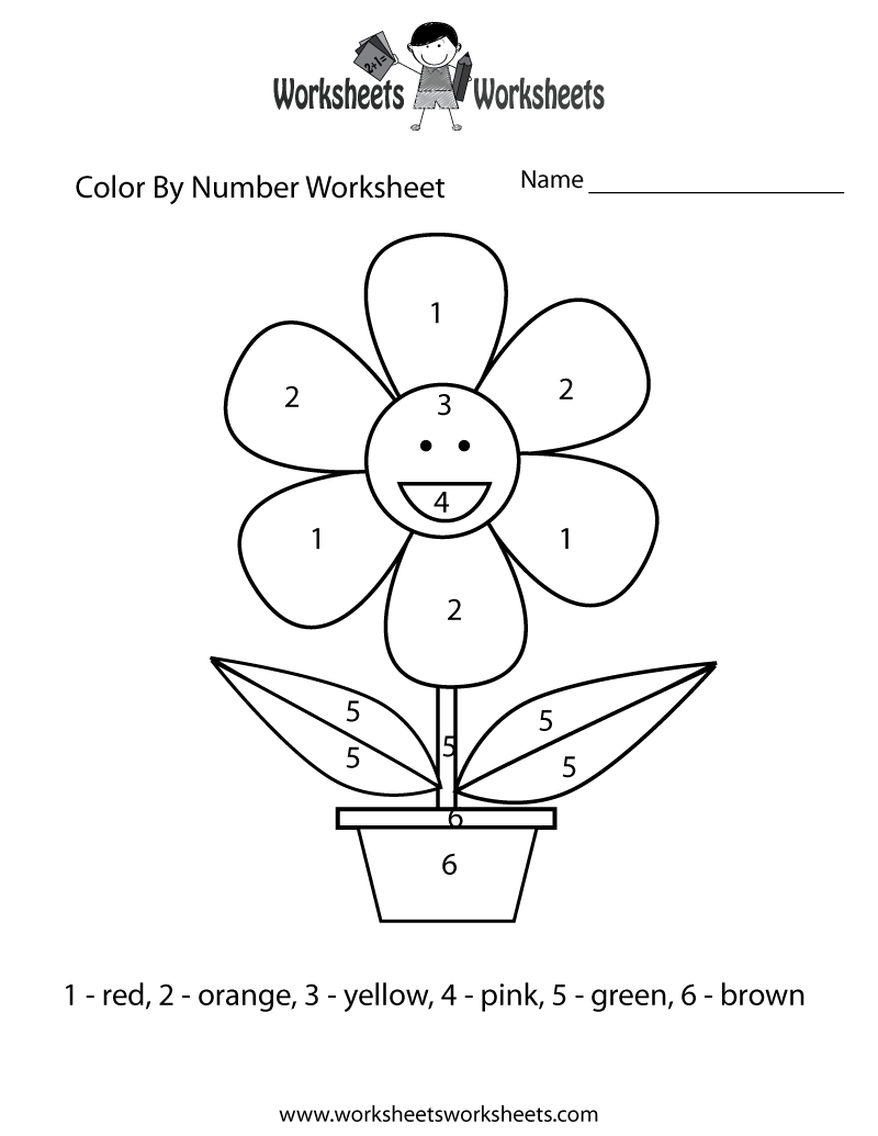 6 Images of Easy Color By Number Printables