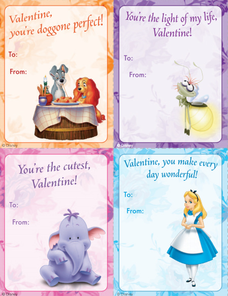 8 Images of Printable Disney Valentine's Day Cards