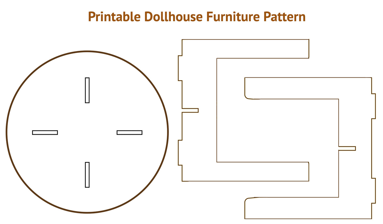 Printable Dollhouse Furniture Patterns