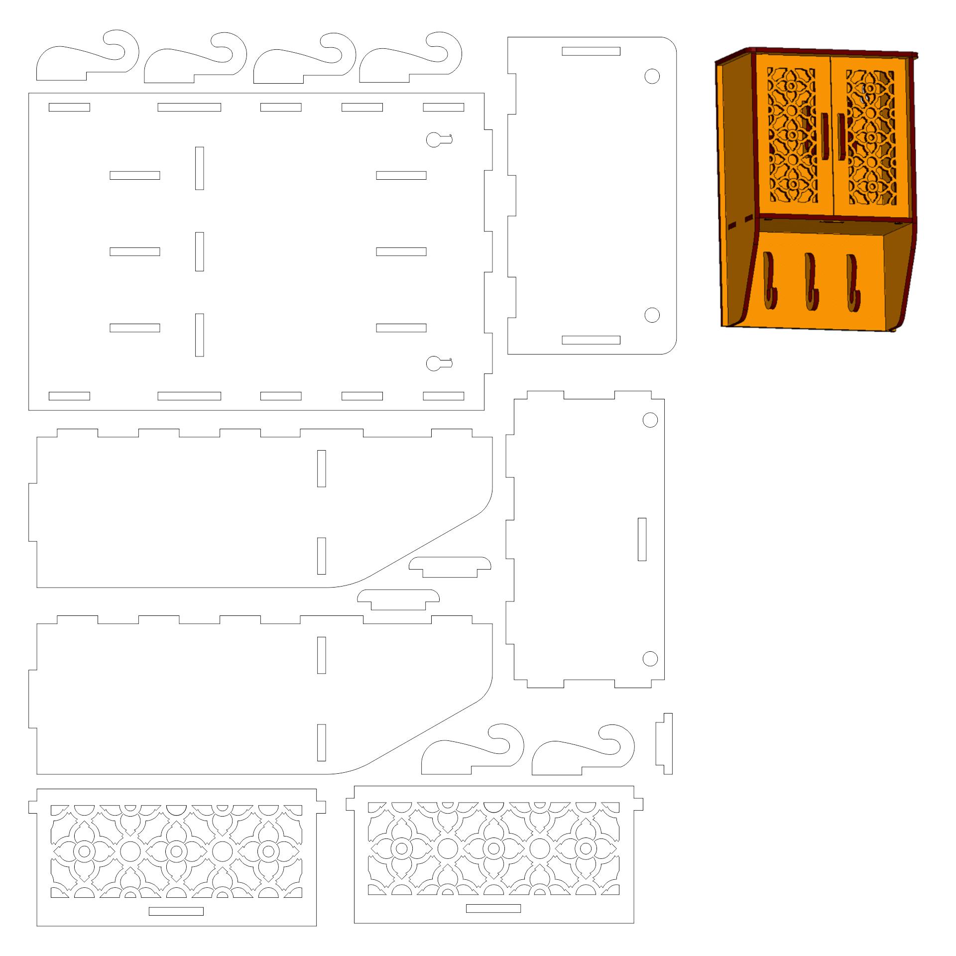Printable Dollhouse Furniture Templates