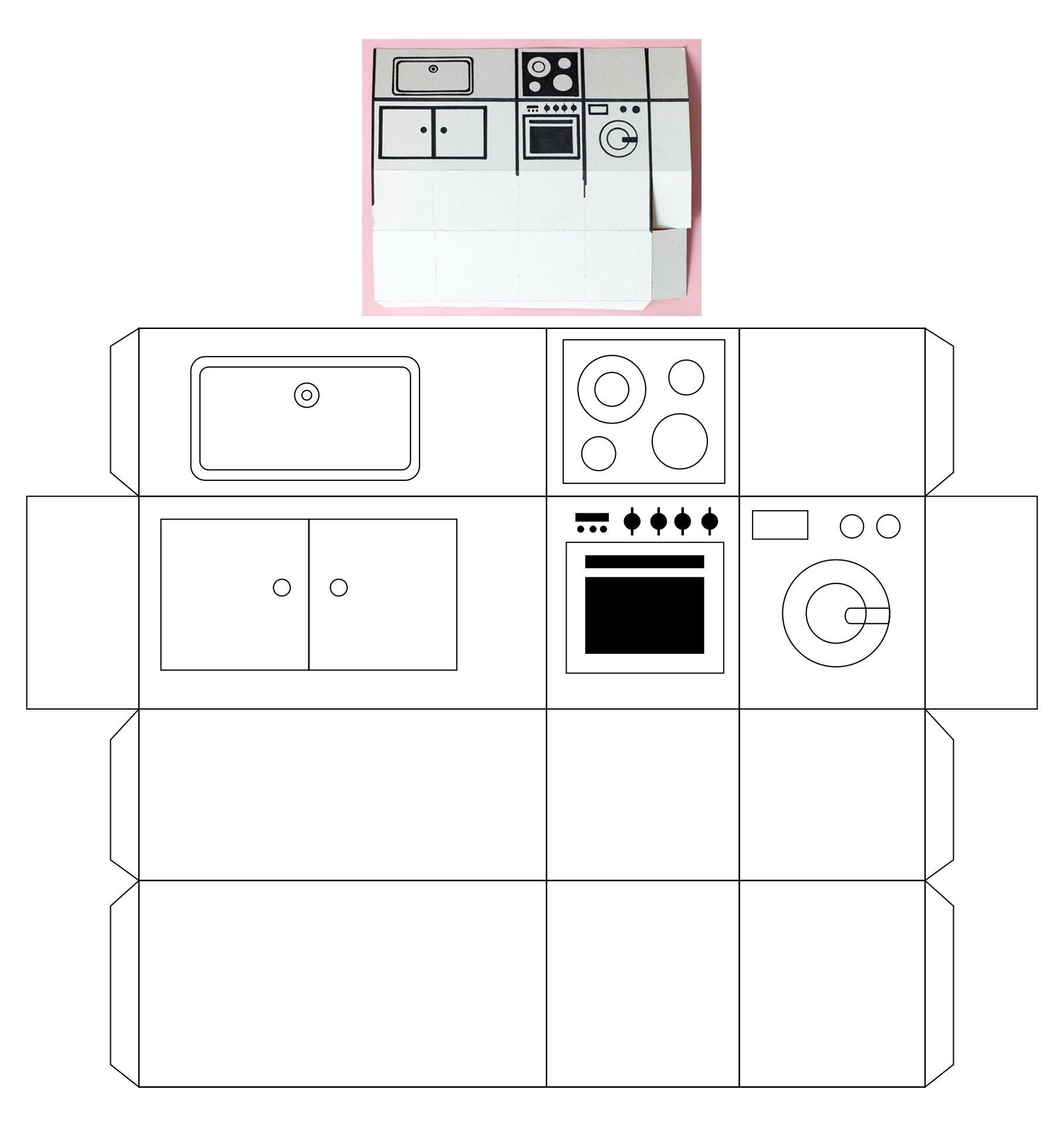 Printable Dollhouse Kitchen