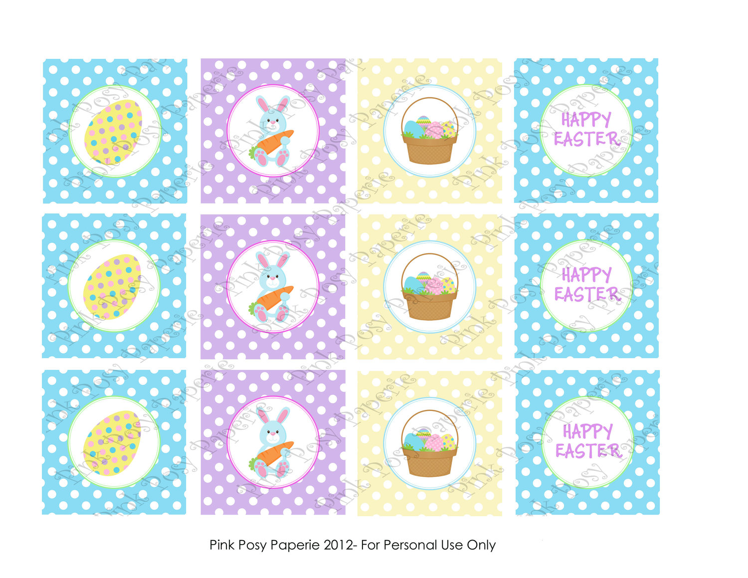 7 Images of Easter Toppers Printable