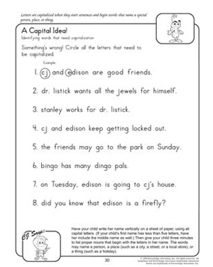 8 Best Images of Free Printable Grammar Worksheets Kindergarten ...