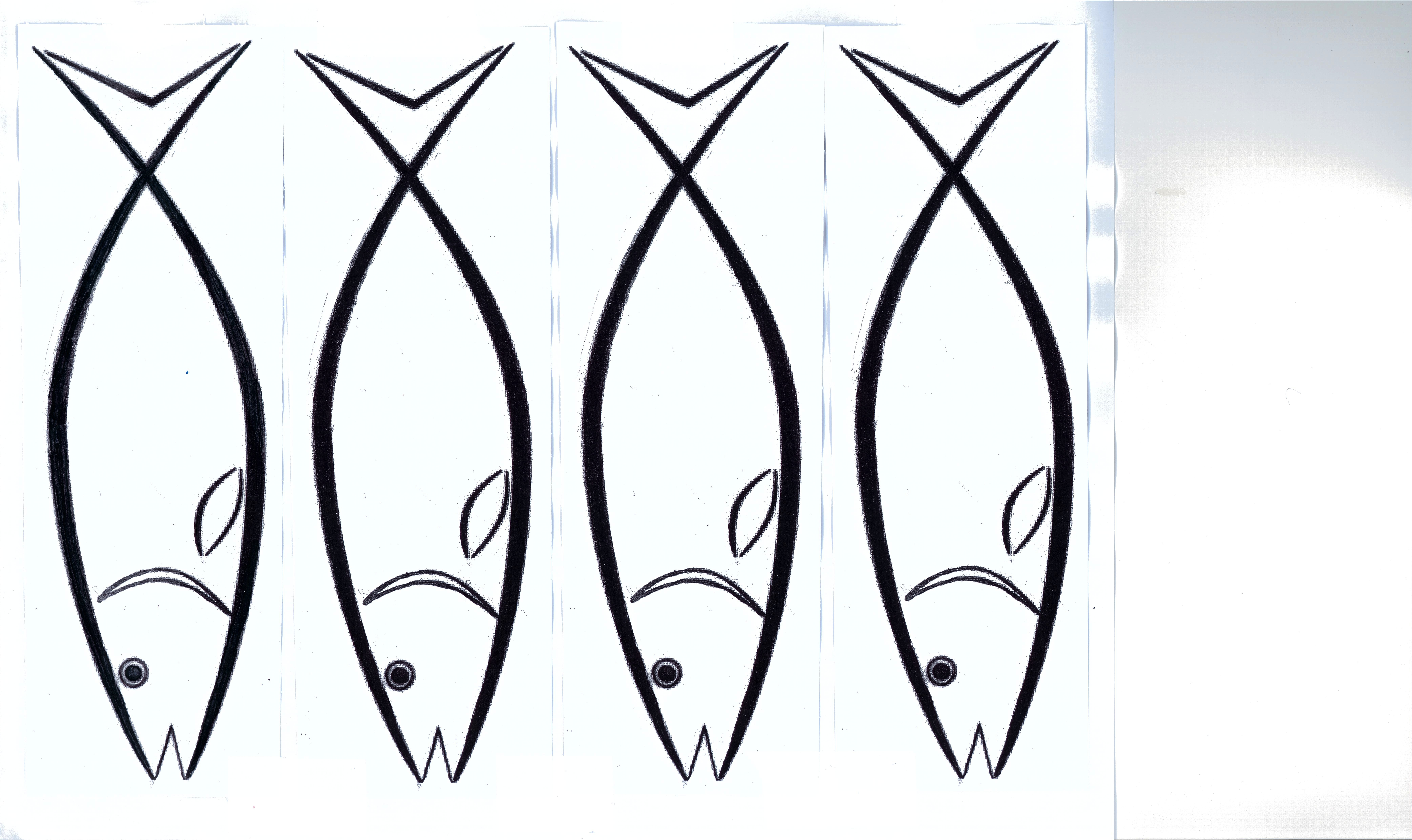 6 best images of small printable fish template small for Fish cut out template