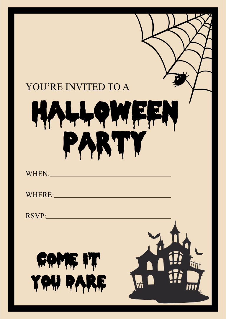 Halloween invitation party card design