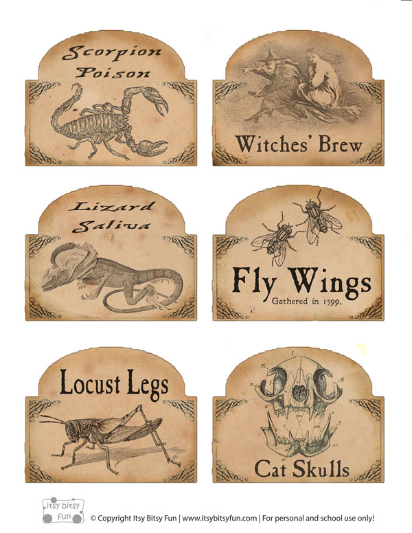 8 Best Images Of Free Printable Potion Labels Free