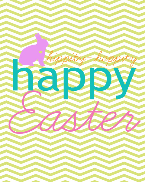 6 Images of Chevron Happy Easter Printable