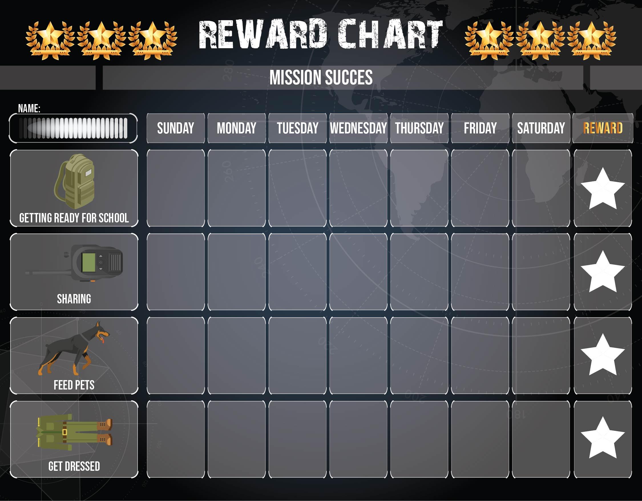 Printable Kids Reward Chart