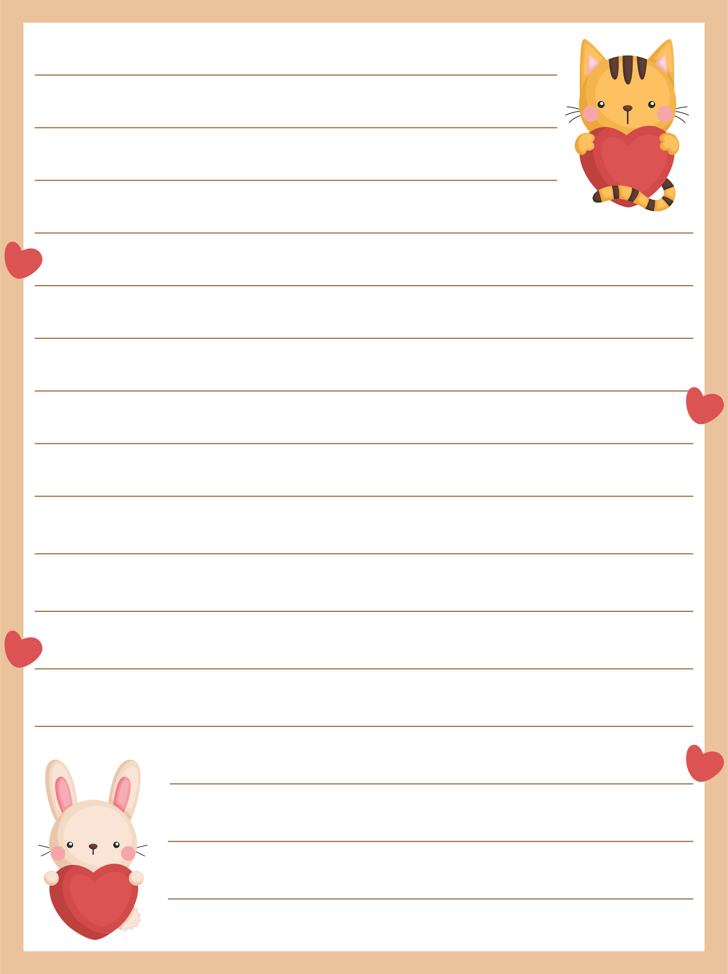 It is a photo of Letter Paper Template within pretty