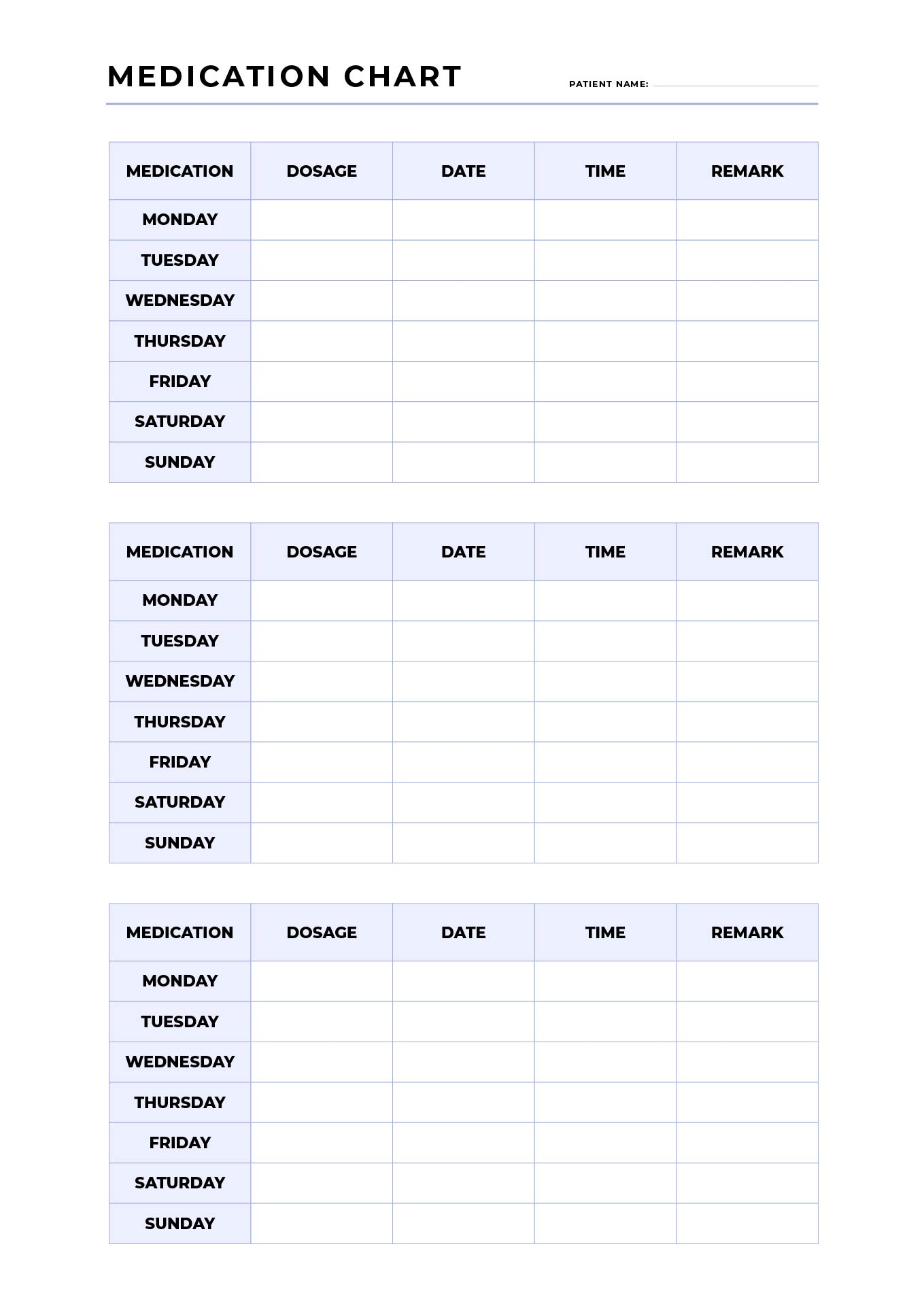 6 Images of Free Printable Medication List Organizer