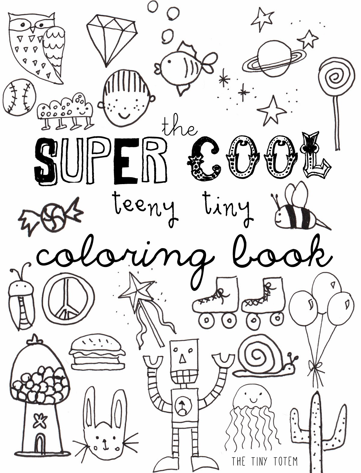 4 Images of Printable Mini Coloring Book