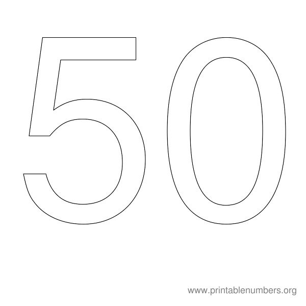 6 Images of Printable Number 50