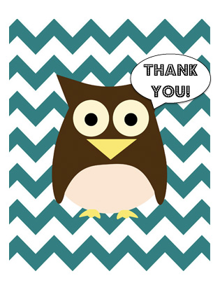 5 Images of Printable Foldable Thank You Cards