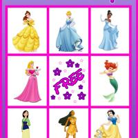 6 Images of Printable Princess Cards