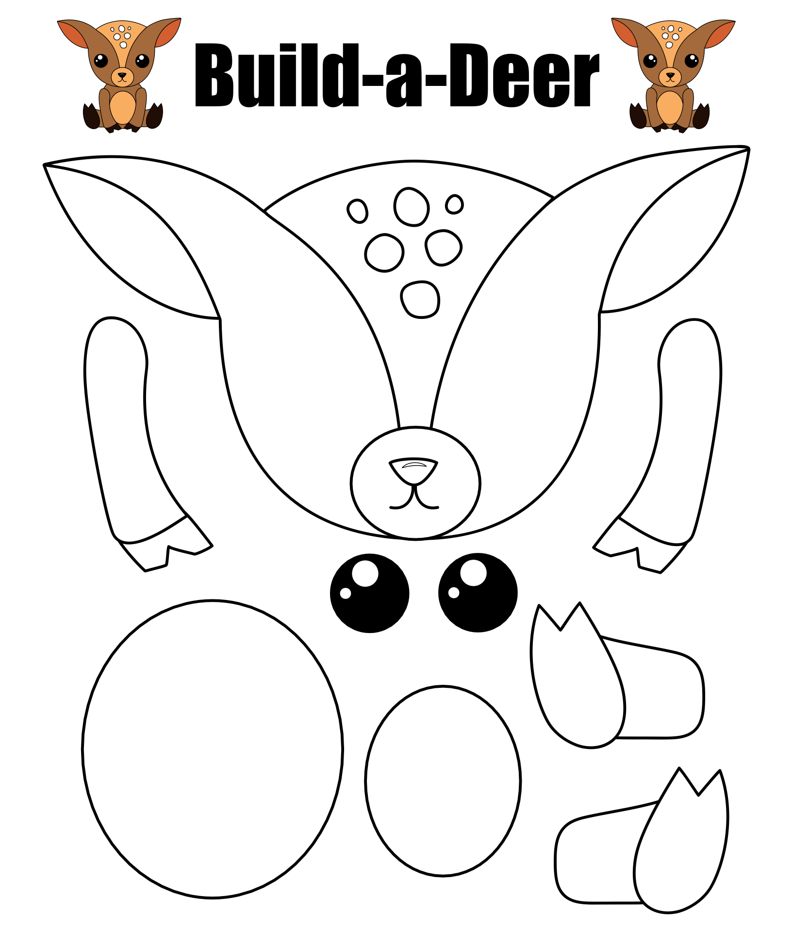 Printable Reindeer Crafts
