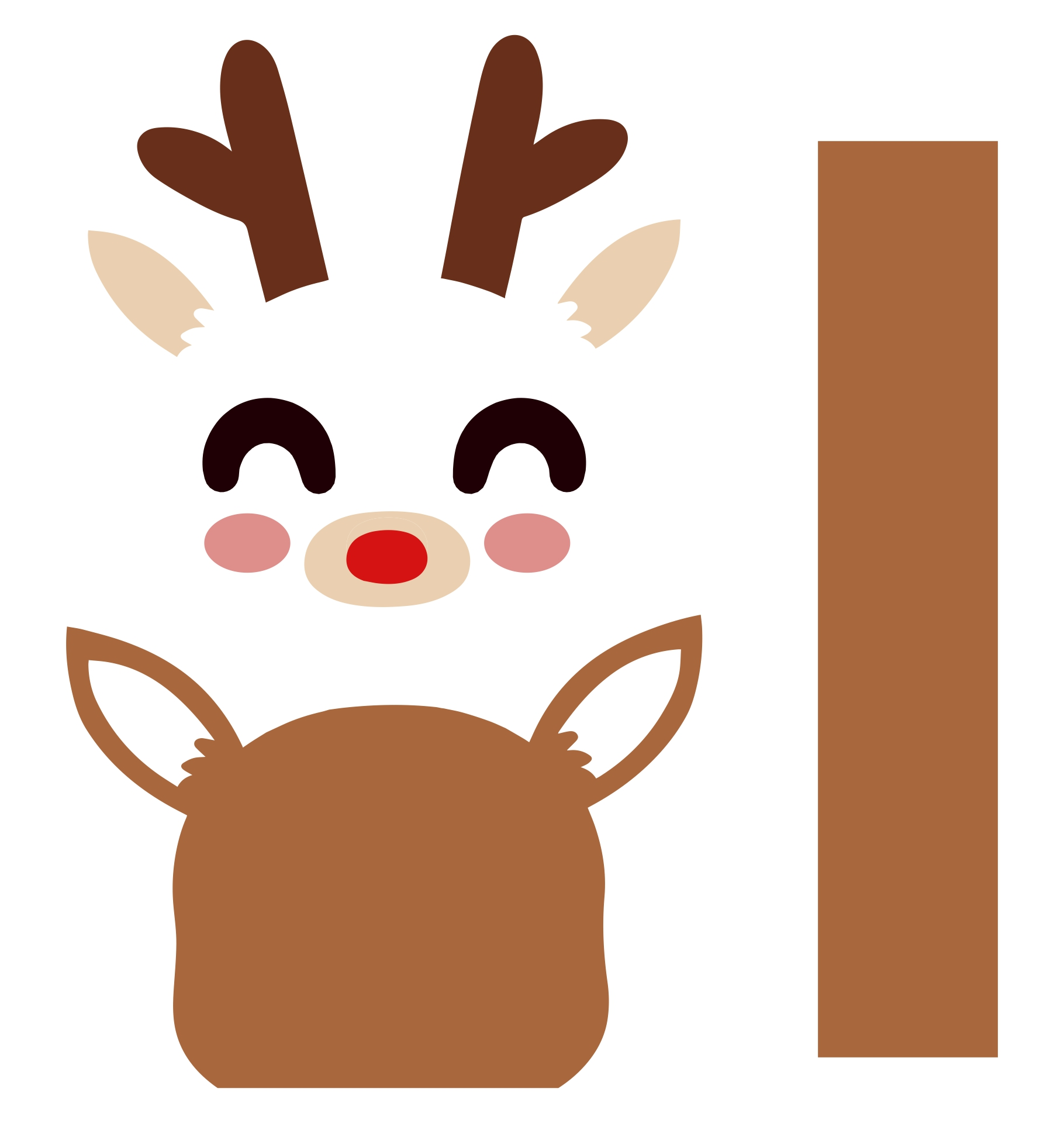 9 Images of Reindeer Free Printable Faces