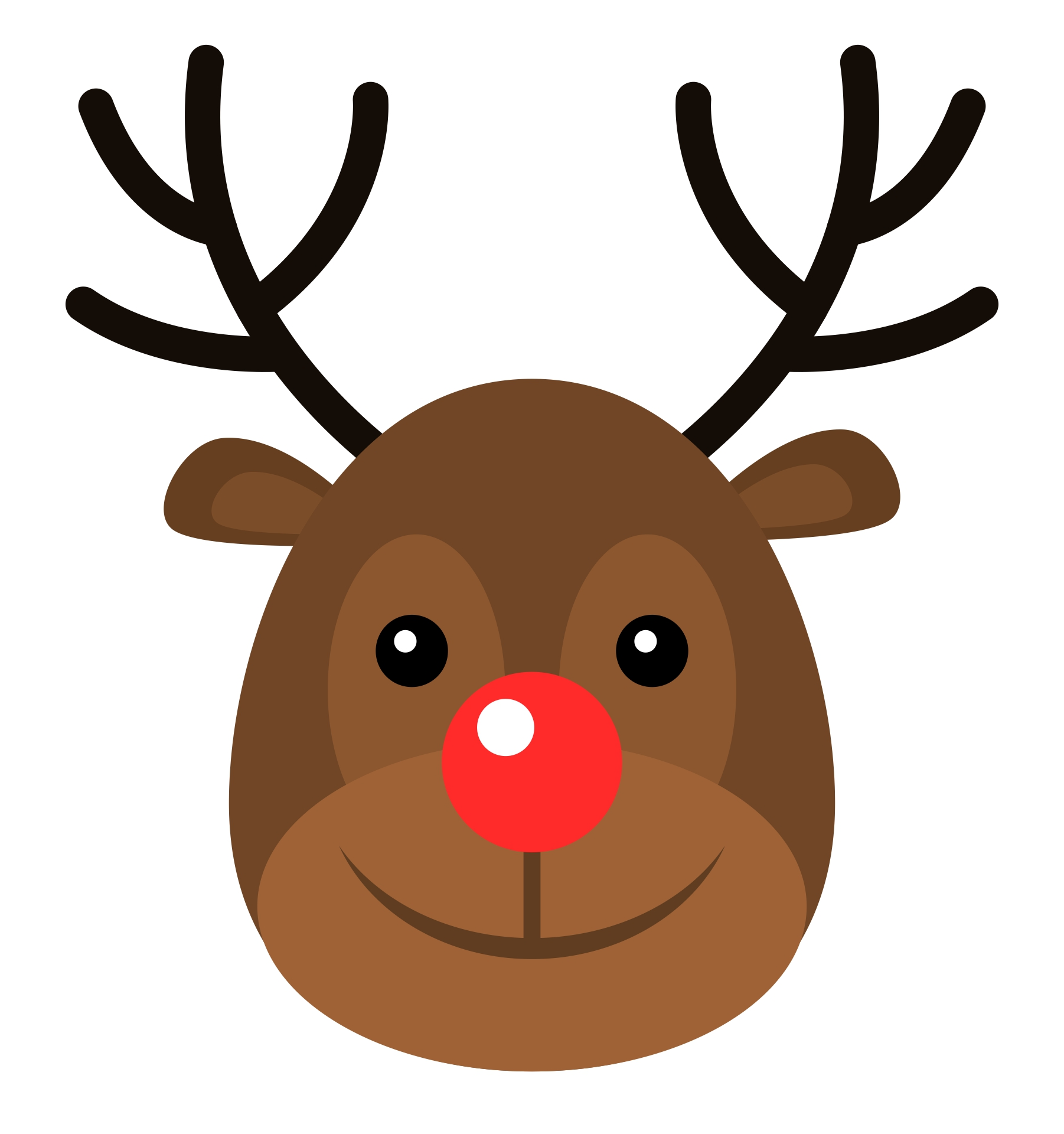 Printable Reindeer Faces