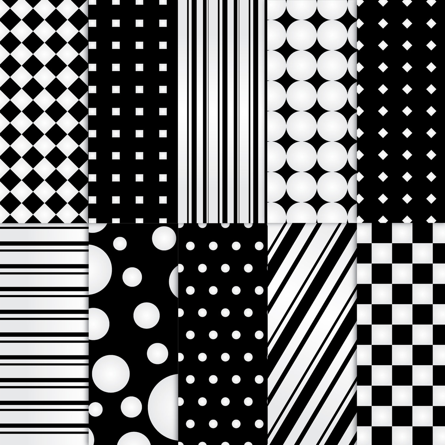 6 Images of Printable Black And White Patterns