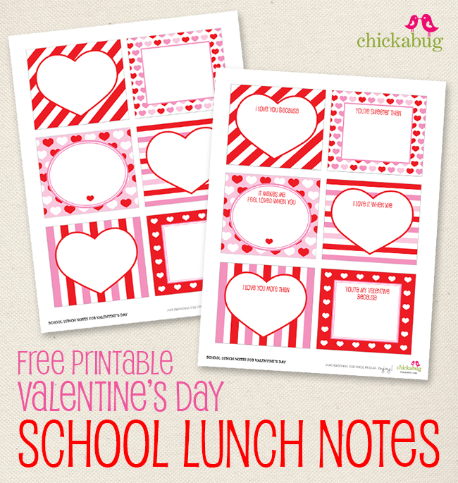 4 Images of Notes For Boys Valentine's Printable