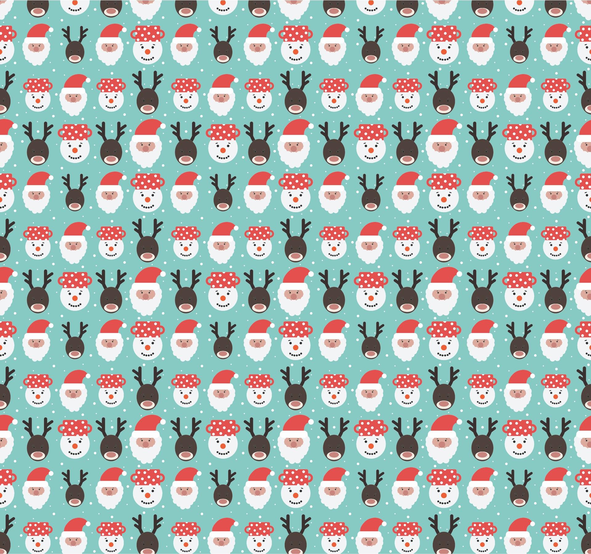 Reindeer Face Pattern