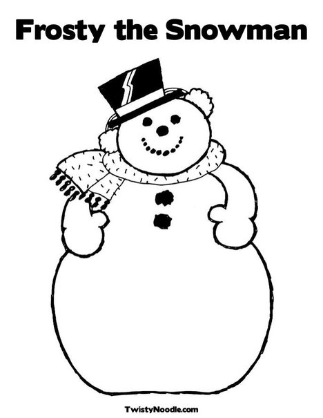 6 best images of frosty snowman template printable for Free coloring pages snowman