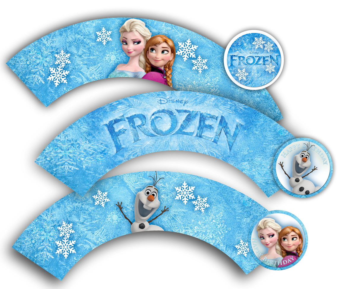 8 Images of Frozen Cup Cake Printables
